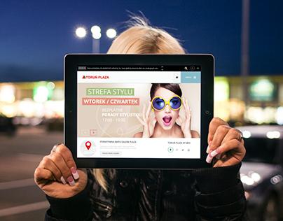 Toruń Plaza - website design