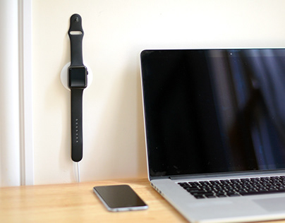 CLING - The wall mounted Apple Watch Charger