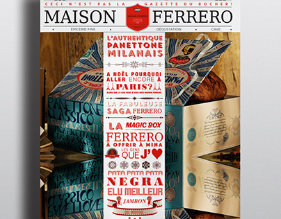 Maison Ferrero christmas newspaper