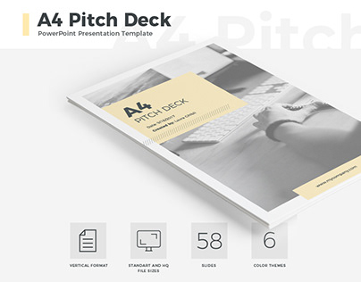 A4 Pitch Deck Presentation Template