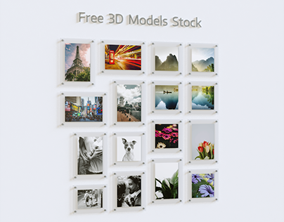 Photo Frames Set.1 Free 3D Model
