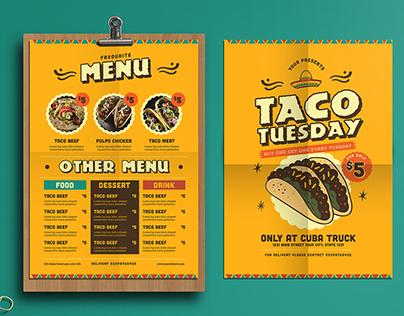 Mexican Style food menus