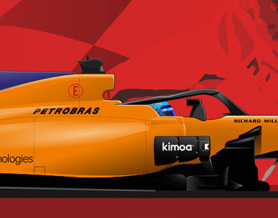 Fernando Alonso - Vector Illustration