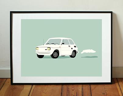 Fiat 126p | Turbo | Illustrations