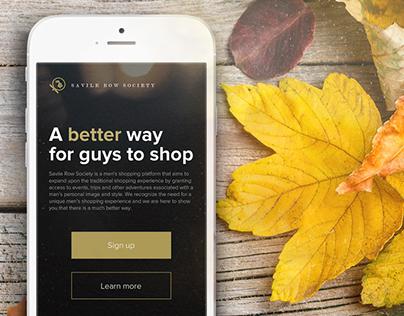 Responsive homepage