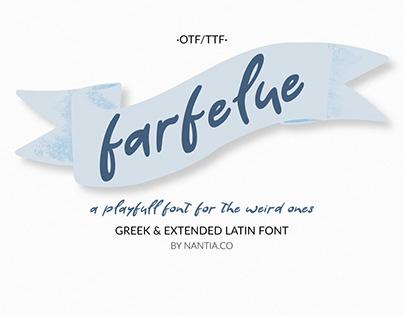 Farfelue, playful font for the weird ones!