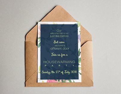 Watercolor inspired invitation