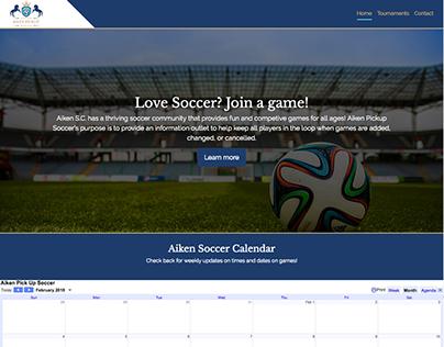 Aiken Pickup Soccer website