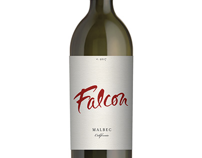 New Label and Brand Design for Falcon Wine