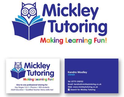 Mickley Tutoring logo design