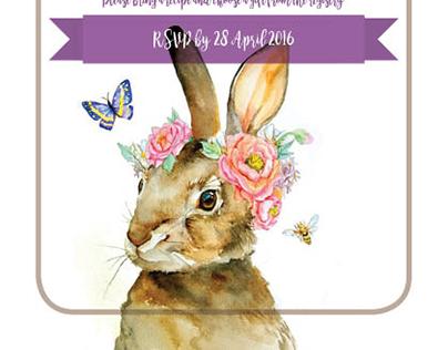 An Alice in Wonderland Inspired Invite