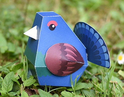 Paper toys: Animals of the Alps