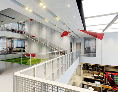Paper airplane - Office lobby