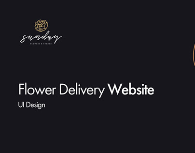 Sunday Flowers & Events Website UI Design