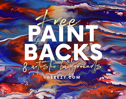 8 Free Artistic Paint Backgrounds