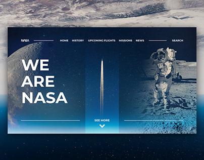 NASA - web design concept