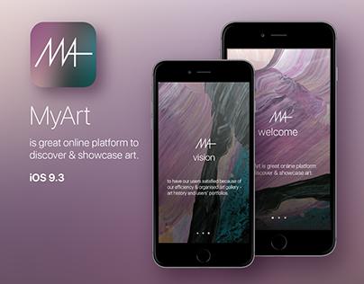 MyArt App iOS 9.3