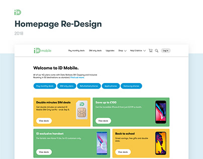 iD Mobile: Homepage Re-Design
