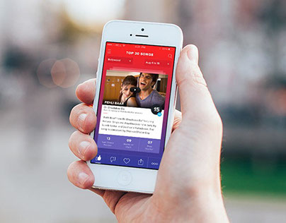 Music Chart App UI Design