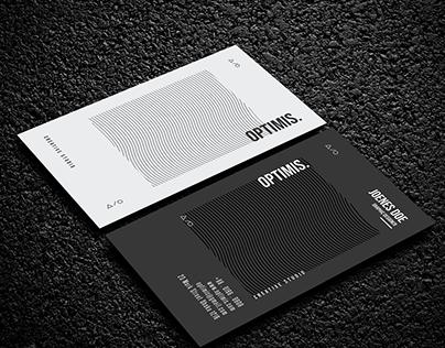 Unique Black & White Business Card Design