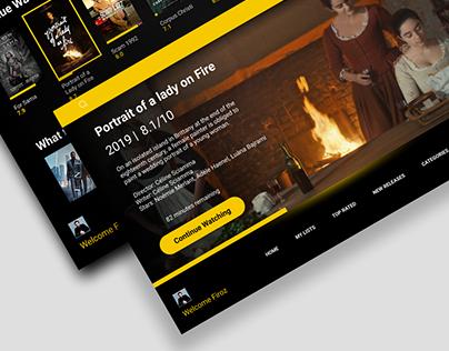 IMDB TV app Concept