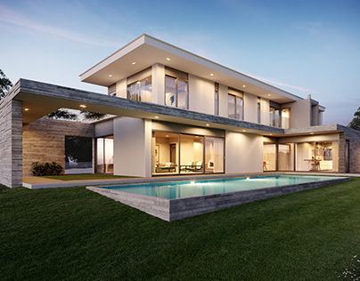 Villas Cgi On Behance
