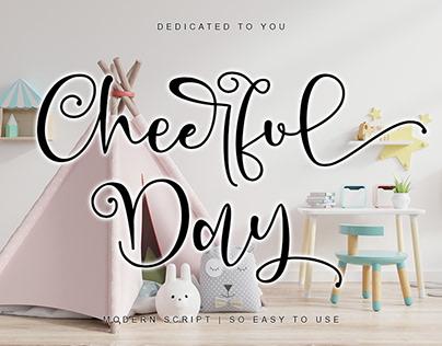 CHEERFUL DAY || MODERN CALLIGRAPHY