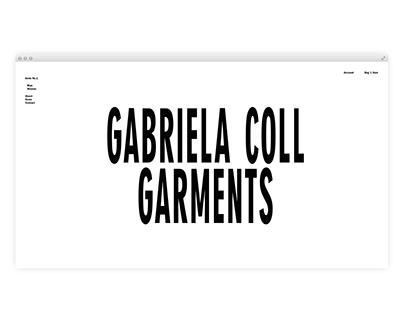 GABRIELA COLL GARMENTS, Website