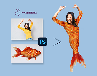 Photoshop Attempt   Turns simple girl into mermaid