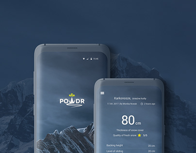 powdr mobile app design