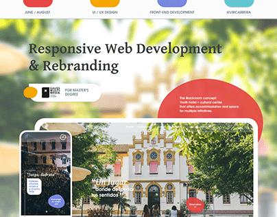Blackroom Responsive Web for Gauss Multimedia