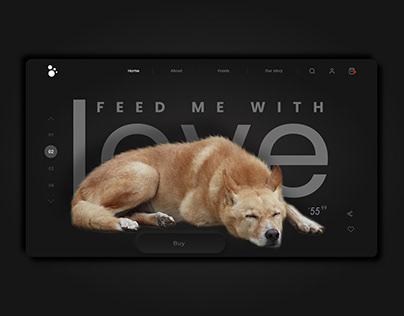 Pets Food Website App design UI UX