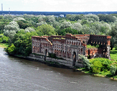 Ruins of the Modlin Fortress in Poland