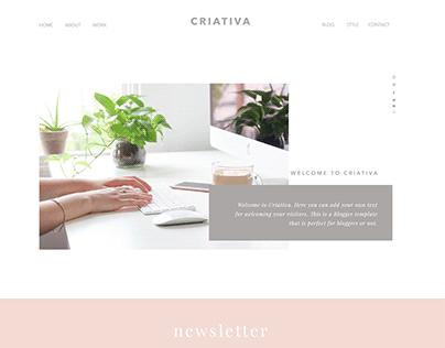 Criativa Blogger Template