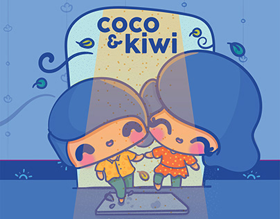 Quirky Couple Kawaii Nouveau Illustrations