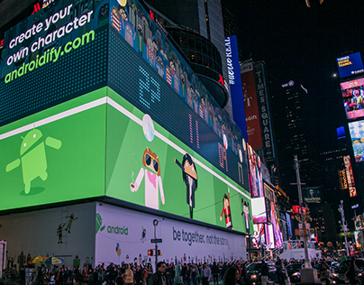Google Androidify Times Square Experience