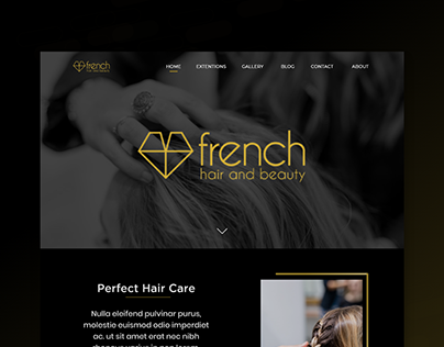 French hair & beauty Landing Page design
