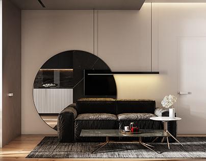 Modern Living Room/ Chisinau / Moldova