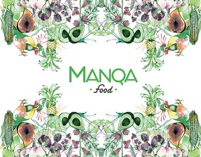 MANQA Food Illustration, Branding, Packaging