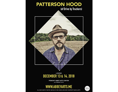 Patterson Hood Show Poster for Abbey Arts