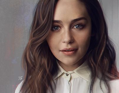 Emilia Clarke portrait