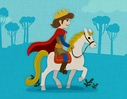 Childrens Fairy Tale Domino app illustrations