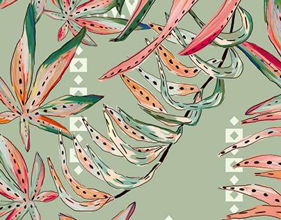 Tropical HandDrawn Pattern
