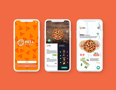 Pizza Connect Design App
