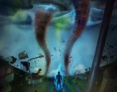 Notus no corredor dos Tornados - Ilustração