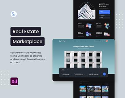 Real Estate Marketplace Dark Mode