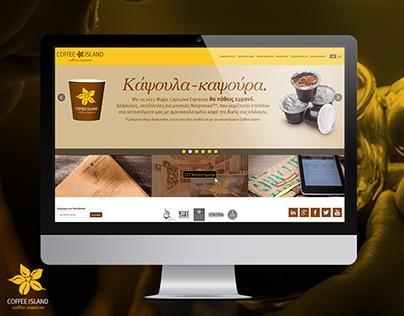 "Redesign Website ""coffeeisland.gr"""