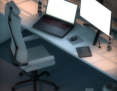 Three Rooms in Isometric View.c4d