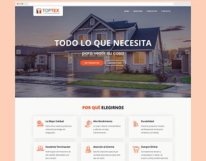 TOPTEX Revestimientos - Sitio web institucional