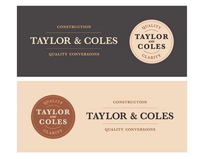 Taylor & Coles logo design and branding